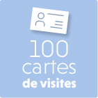 100 cartes de visites kitcom